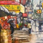 Houston Street in the Rain