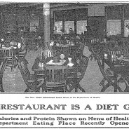 Calorie Counts on Menus, 1915 Style
