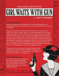 Girl Waits with Gun book club discussion quetions