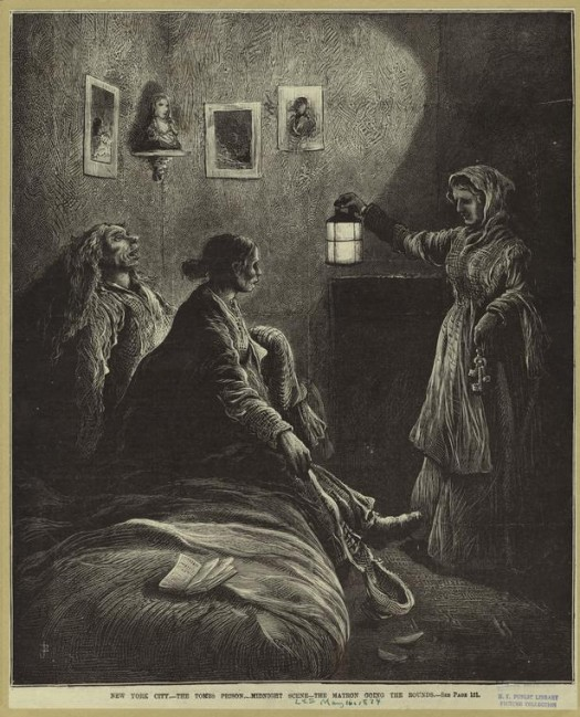 Matron at The Tombs NYPL digital collection 1874