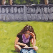 Reading in Bryant Park