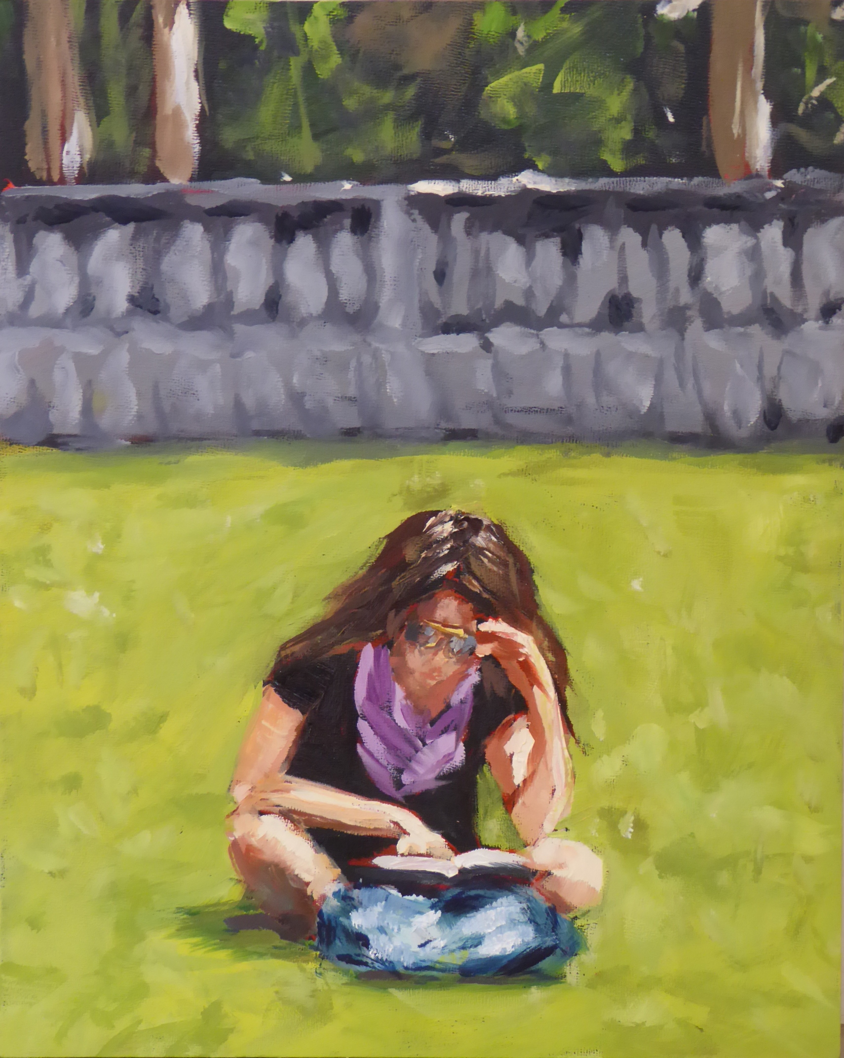 Reading in Bryant Park