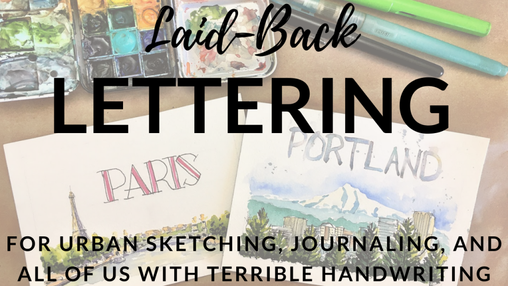 Laid-Back Lettering