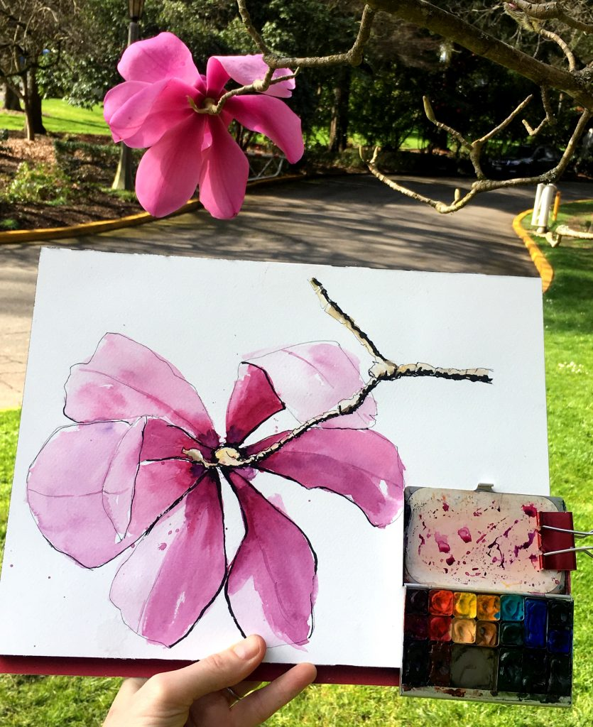 Sketching In Your Own Backyard or Around the World