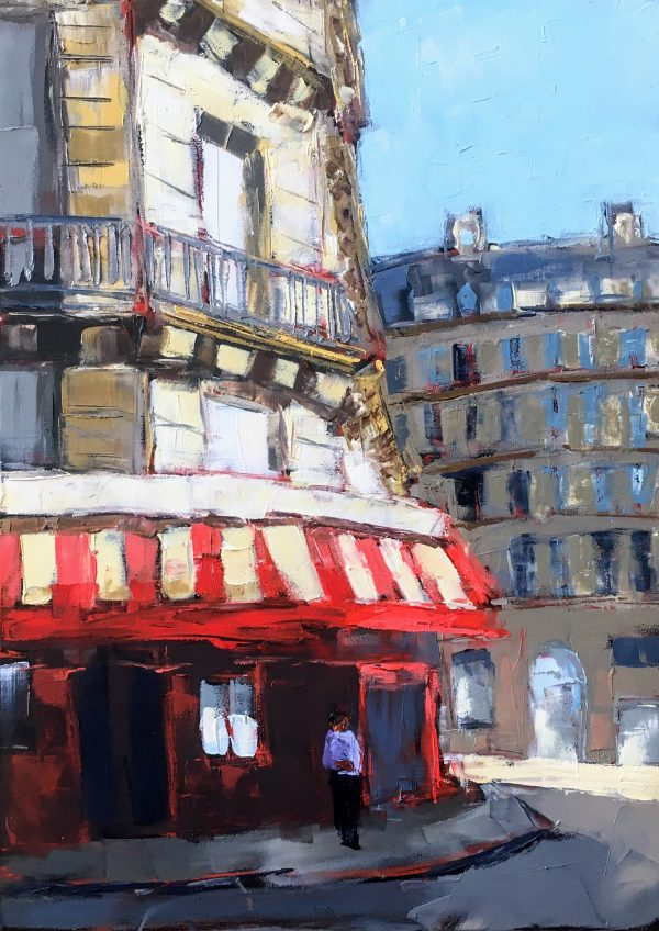 Painting of La Rotonde restaurant in Paris