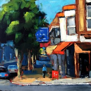 San Francisco street scene oil painting