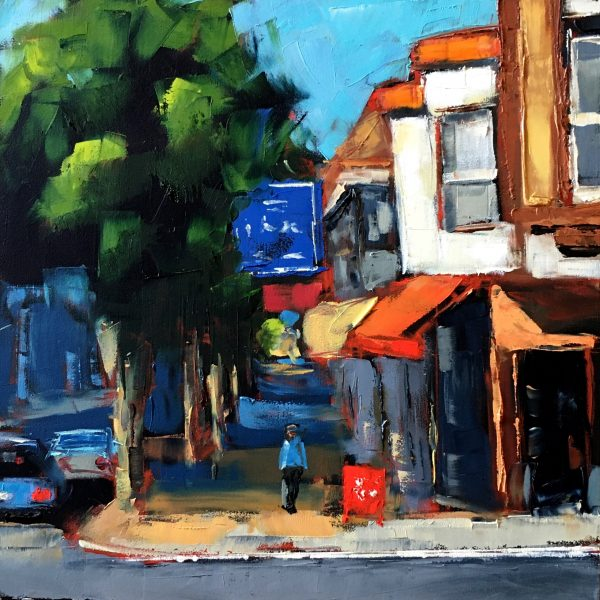 San Francisco street scene oil painting