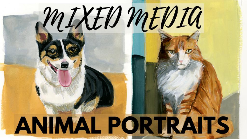 Mixed Media Animal Portraits