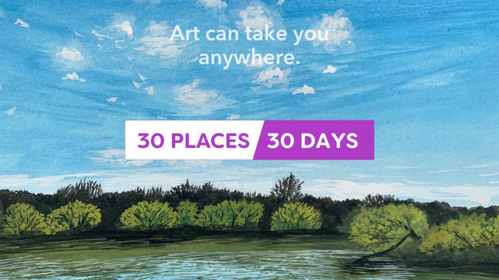 Sktchy 30 Places/30 Days logo
